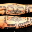 """tattooed with soot and ochre"" ""haida devil fish tattoo"" ""octopus tattoo"""