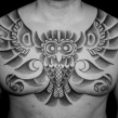 """haida owl tattoo"" ""dotwork tattoo"""