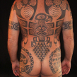 """polynesian tattoo"" ""tattooed by hand"""