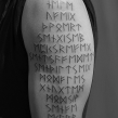 """rune tatovering"" ""nordictattoo"" ""tattooed by hand"" ""lines by hand"""